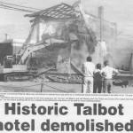 Demolition of the talbot hotel